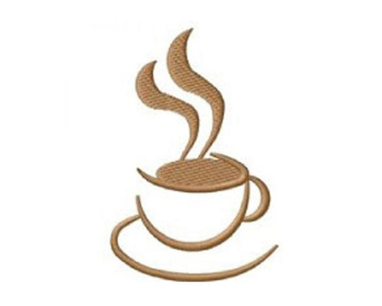 Abstract Coffee Cup Embroidery Design