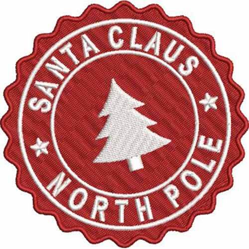 santa clause north pole embroidery patch
