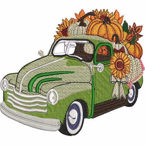 HALLOWEEN JEEP EMBROIDERY DESIGN