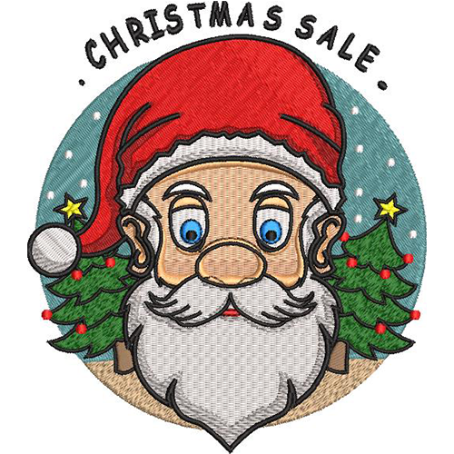 christmas sale santa embroidery design