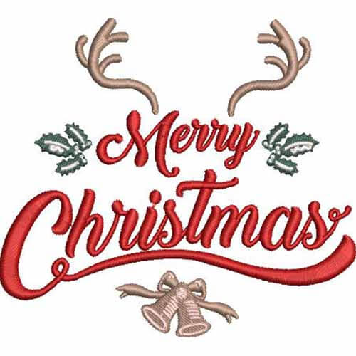 marry christmas machine embroidery design