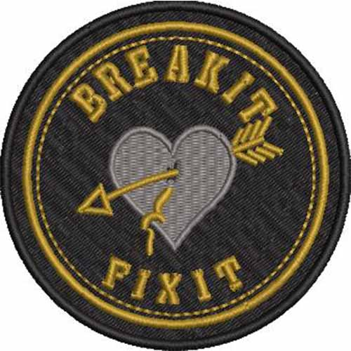 FIXIT  HEART EMBROIDERY PATCH