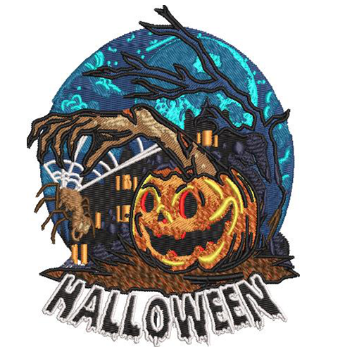 ANT AND HALLOWEEN EMBROIDERY DESIGN