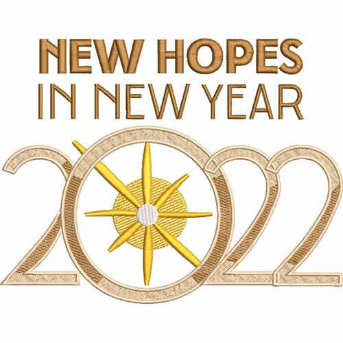 NEW YEAR NEW HOPES EMBROIDERY LOGO