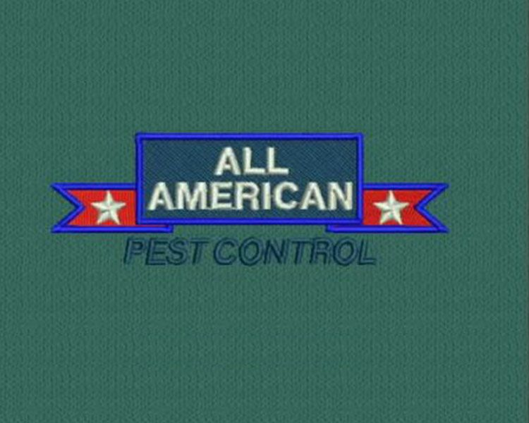 All American Pest Control Embroidery logo