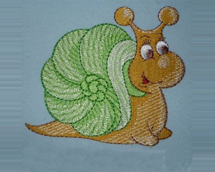 Embroidered Patch Kids Cartoon Snail